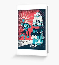 No more M for Monkey - Dexter's Laboratory Greeting Card