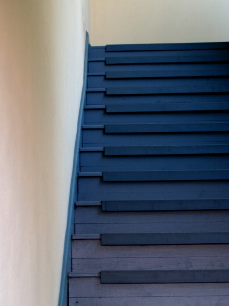 Blue Stairs by Sam  Athey