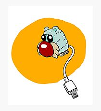 furry usb mouse Photographic Print