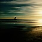 Low Tide Sunset at Butterfly Beach by David Rozansky