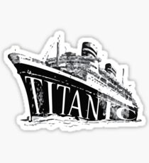 Titanic Historical Graphic T-shirt Sticker