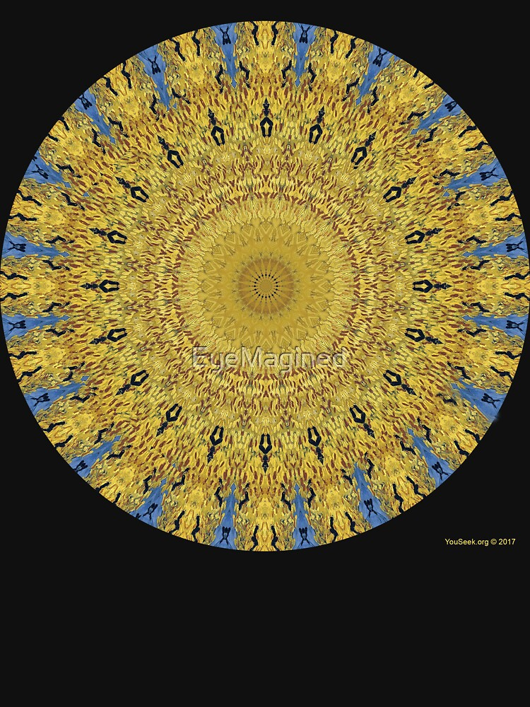 Van Gogh Crop Circle with Ravens by EyeMagined