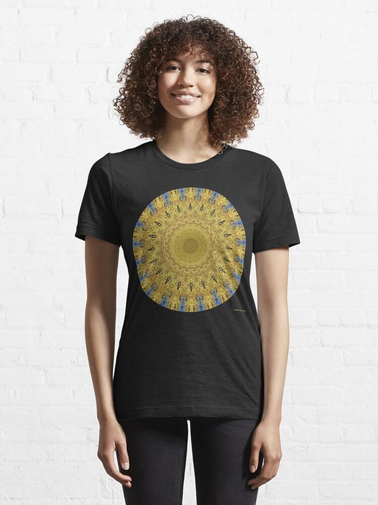 Alternate view of Van Gogh Crop Circle with Ravens Essential T-Shirt