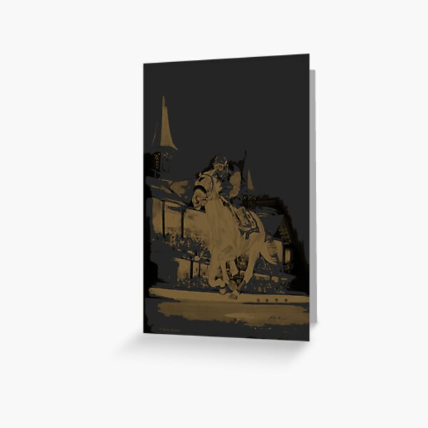 Race Of A Lifetime (black and gold series) Greeting Card
