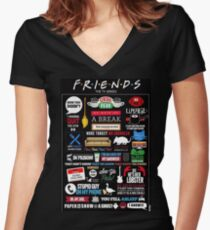 Friends Quotes Women's Fitted V-Neck T-Shirt