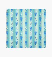 Blue Lobsters and Buoys on Turquoise Stripe Scarf