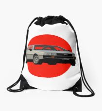 Back to the Future DeLorean Drawstring Bag