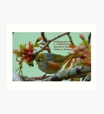 Special & Beautiful - Christmas Greeting Card - NZ Art Print