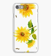 The Composition of Yellow Sunflower   iPhone Case/Skin