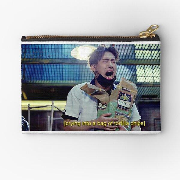 Wonho   Emotionally Eating Tortilla Chips Zipper Pouch