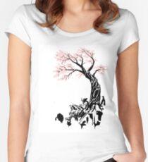 SAkura Samurai Women's Fitted Scoop T-Shirt