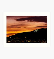 El Paso's Star on the Mountain Art Print