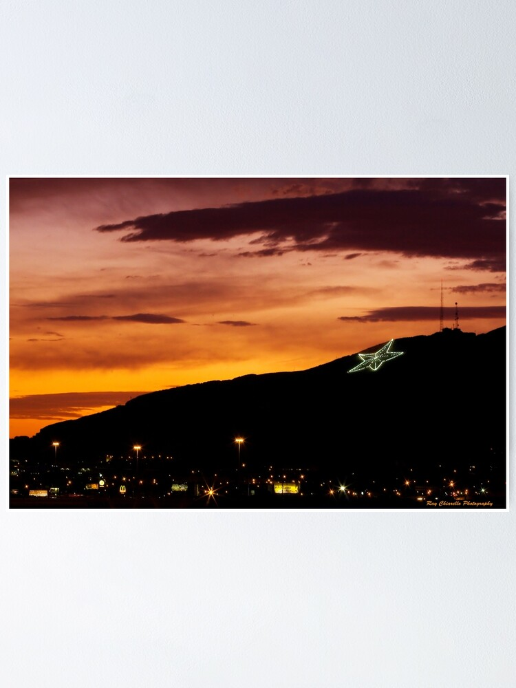 Alternate view of El Paso's Star on the Mountain Poster