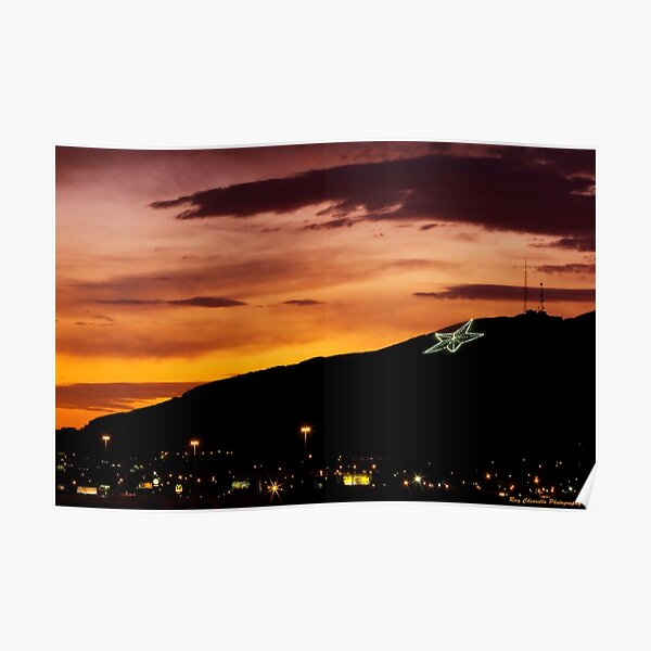 El Paso's Star on the Mountain Poster