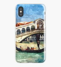Colorful Venice Canal Grande Aquarelle Painting iPhone Case/Skin