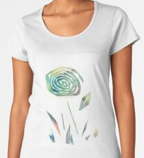 Watercolour paper collage flower Women's Premium T-Shirt