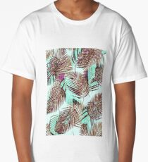 Tropical Leaves Long T-Shirt