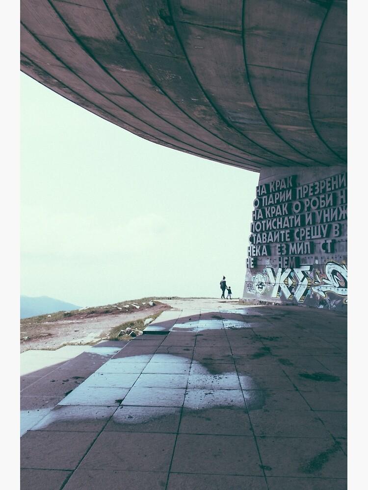 Buzludzha monument communist brutalist architecture by untitledstory