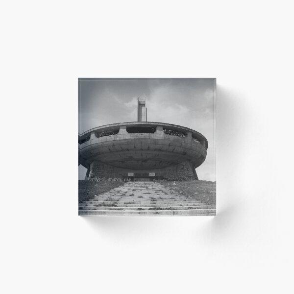 Buzludzha monument communist brutalist architecture Acrylic Block