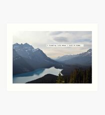 I Touched the Sky - Hillsong United Art Print