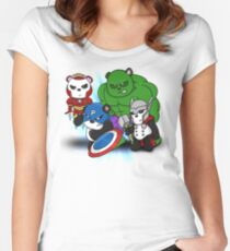 The PandAvengers Women's Fitted Scoop T-Shirt