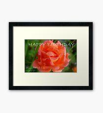 Happy Birthday - Rose Bloom - NZ Framed Print