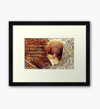 Congratulations On Your New Little One! - Greeting Card - NZ Framed Print