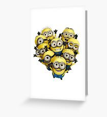 Minion Heart- Minions despicable me Greeting Card