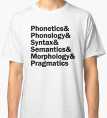 Areas of Linguistics | Black Classic T-Shirt