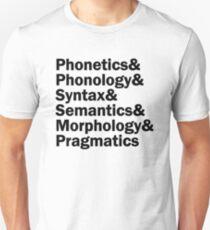 Areas of Linguistics | Black Unisex T-Shirt