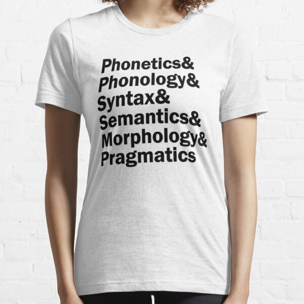 Areas of Linguistics | Black Essential T-Shirt