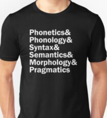 Areas of Linguistics   White Unisex T-Shirt