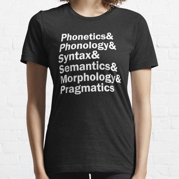 Areas of Linguistics | White Essential T-Shirt