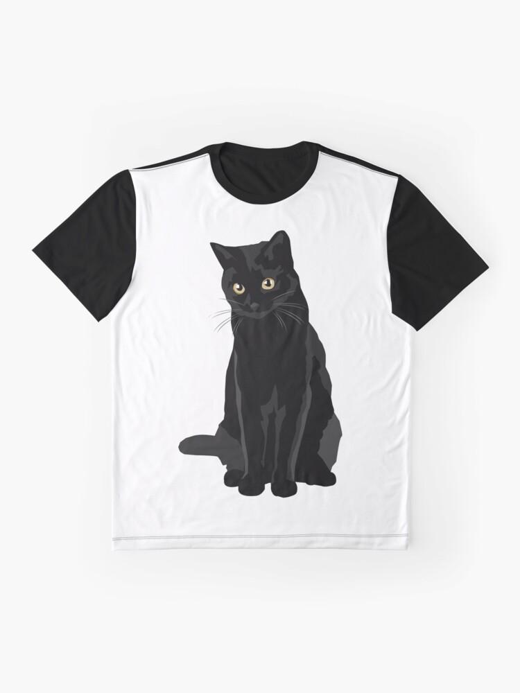 Alternate view of Black Cat Graphic T-Shirt