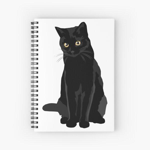 Black Cat Spiral Notebook