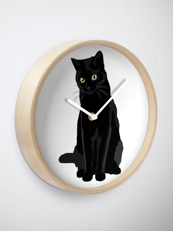Alternate view of Black Cat Clock