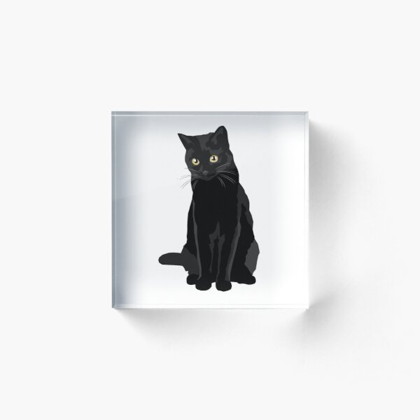 Black Cat Acrylic Block