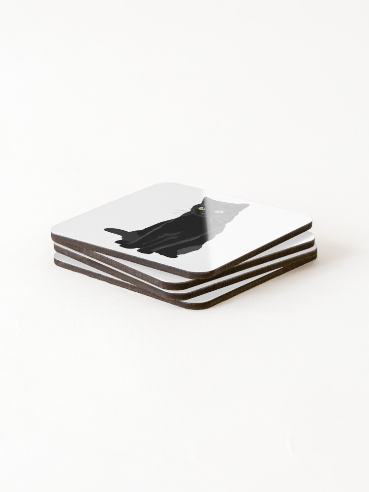 Alternate view of Black Cat Coasters (Set of 4)