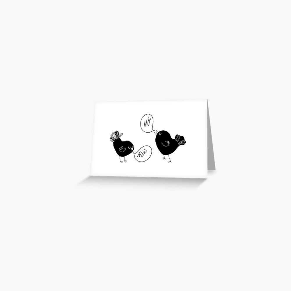 Black Birds. Greeting Card