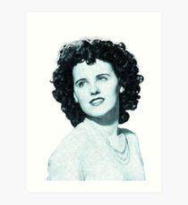 Black Dahlia Digital Painting Art Print