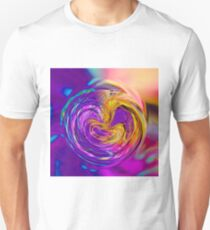 psychedelic graffiti abstract pattern in purple pink brown blue T-Shirt
