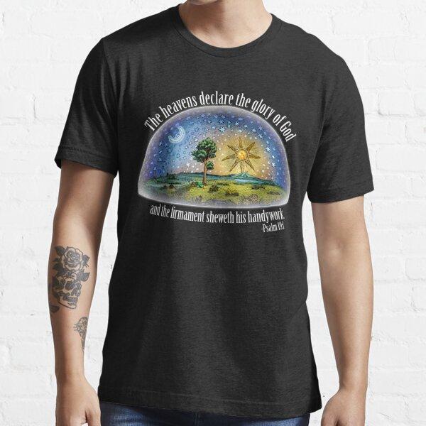 Flat Earth - Psalm 19:1 (The Firmament) Black Essential T-Shirt