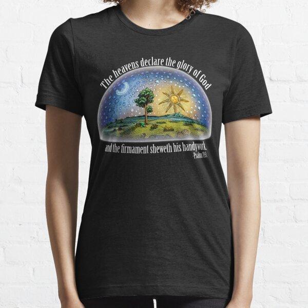 Tierra plana - Salmo 19: 1 (El Firmamento) Negro Camiseta esencial