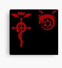 Fullmetal Alchemist Ouroboros + Flamel Red Canvas Print
