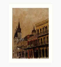 Jackson Square from the French Quarter Art Print