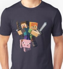 Minecraft- Alex, Pig, Steve T-Shirt