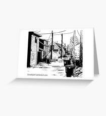 Residential Alley Greeting Card