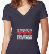 Gamers Girl Women's Fitted V-Neck T-Shirt
