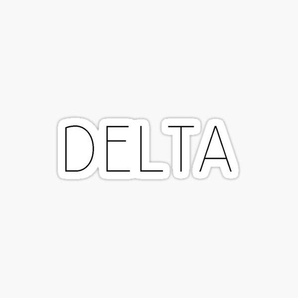 Delta (blk block) Sticker