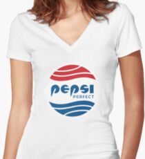 Pepsi Perfect Women's Fitted V-Neck T-Shirt